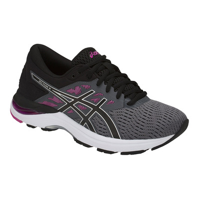 GEL-FLUX 5 - Chaussures running Femme carbon/black/fuchsia red