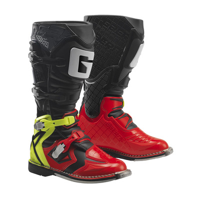 G.REACT GOODYEAR - Bottes off-road red/yellow/black