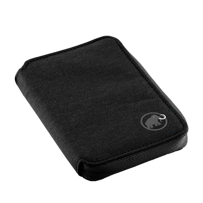 MAMMUT - ZIP WALLET MELANGE - Cartera black