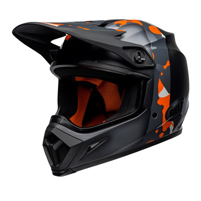 MX-9 MIPS® PRESENCE - Casque off-road black neon/orange camo