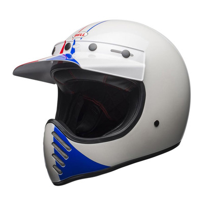 MOTO-3 ACE CAFÉ GP-66 - Casque off-road (vintage) gloss white/red