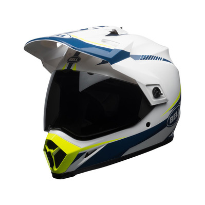 MX-9 MIPS® ADVENTURE TORCH - Casque touring gloss white/blue/yellow