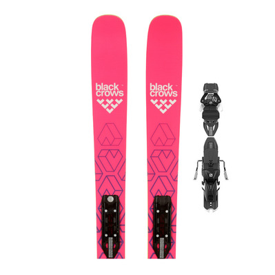 CAMOX BIRDIE RT 17 - Esquís all mountain mujer + fijaciones WARDEN 13 DEMO B100 black/pink