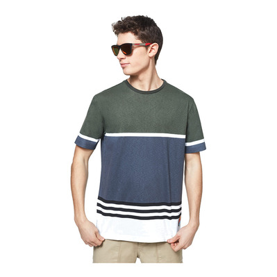 OAKLEY - STRIPED 1975 SS - Tee-shirt Homme dark brush color block