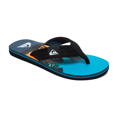 QUIKSILVER - MOLOKAI LAYBACK - Tongs Homme black/blue/blue
