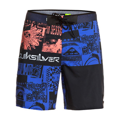 "QUIKSILVER - HIGHLINE RAVE WAVE 18"" - Boardshort Homme black"