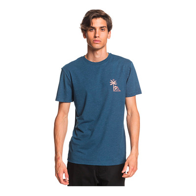 QUIKSILVER - MORNING BIRD - Tee-shirt Homme majolica blue