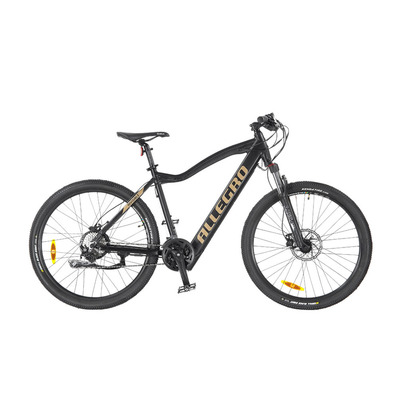 "INVISIBLE E-MTB 27.5"" - VTT semi-rigide à assistance électrique black/gold"