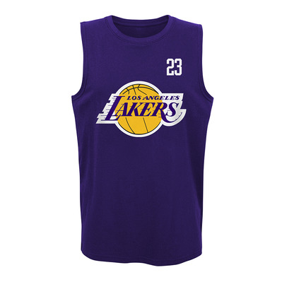 ALL NET LOS ANGELES LAKERS LEBRON JAMES - Camiseta de tirantes hombre team color