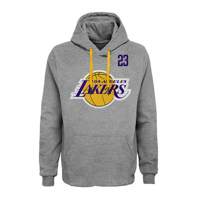 GOAT PO LOS ANGELES LAKERS LEBRON JAMES - Sudadera hombre team color