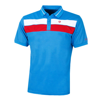 IGTS1892 - Polo hombre sky azure/red
