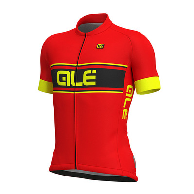 Alé SOLID VETTA - Maillot Homme red/fluo yellow