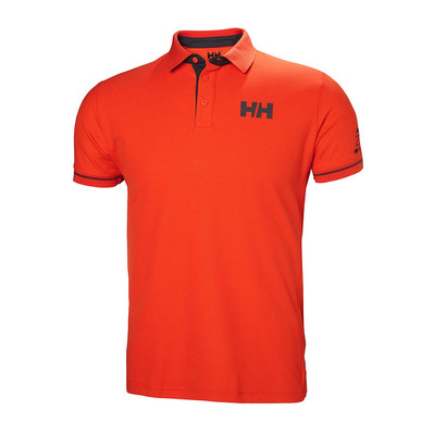 HELLY HANSEN - HP SHORE - Polo - Men's - cherry tomato