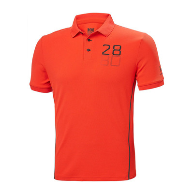 HELLY HANSEN - HP RACING - Polo Homme cherry tomato