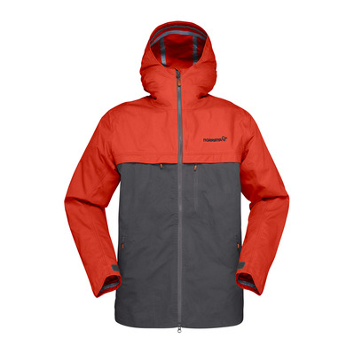 NORRONA - svalbard cotton Jacket (M) Rooibos Tea/Slate Grey Homme