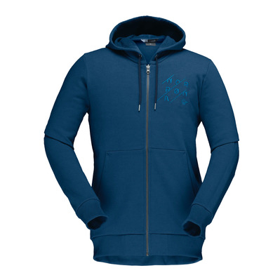 NORRONA - /29 COTTON SLANT LOGO ZIP HOOD - Sweat Homme indigo night