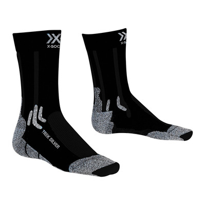 X-SOCKS - TREK SILVER - Socken - black/grey