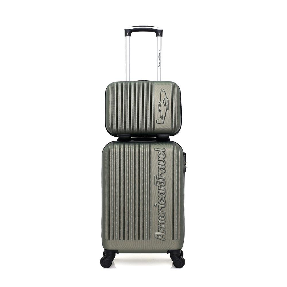Monarca azufre montar  ESPECIAL MALETAS American Travel NASHVILLE-H 11L/31L - Maleta + Vanity kaki  - Private Sport Shop