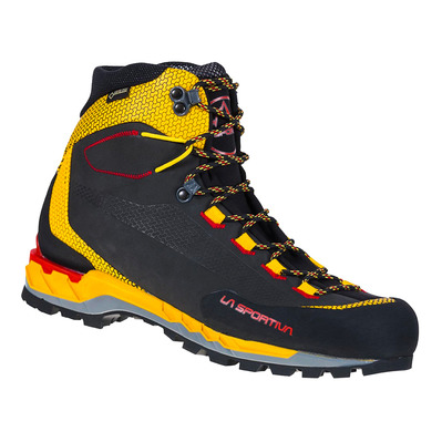 LA SPORTIVA - TRANGO TECH LEATHER GTX - Chaussures randonnée Homme black/yellow