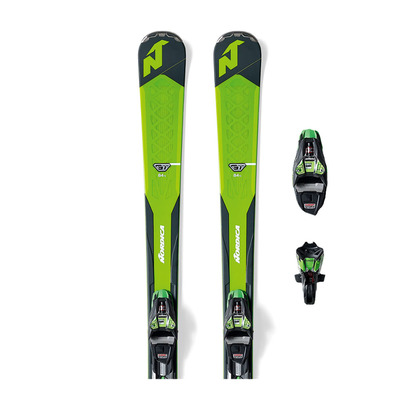 GT 84 TI FDT 18 - Skis piste Homme green/black + Fixations XCELL12 FDT black/green