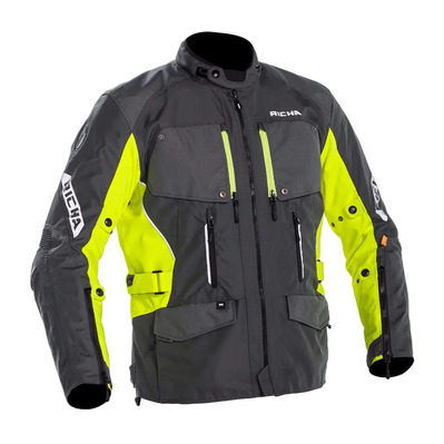 UTAH - Veste Homme grey/fluo yellow
