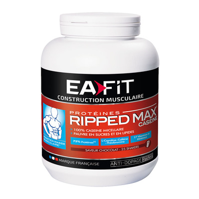 EA Fit RIPPED MAX CASEINE - Pot 750g chocolat