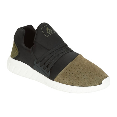 AREA LOW - Sneakers evo black/army suede