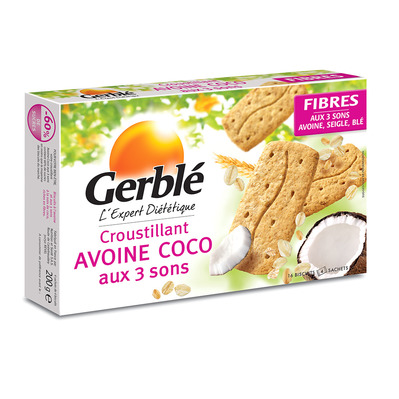 Gerblé - Croustillants x12 avoine coco aux 3 sons