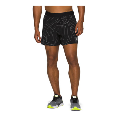 ASICS - NIGHT TRACK - Short Homme night track black aop