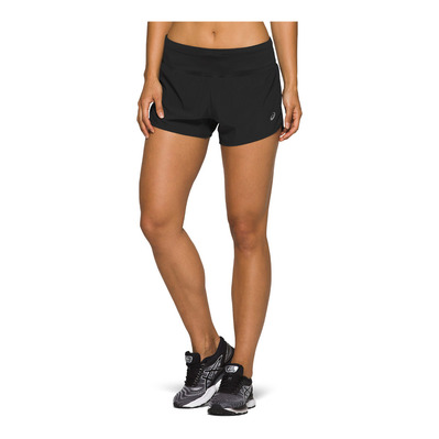 ASICS - ROAD 3.5IN - Short Donna performance black