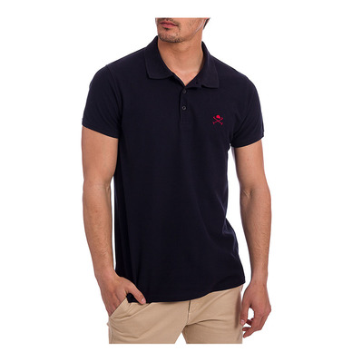 ACADEMY - Polo Homme navy/red