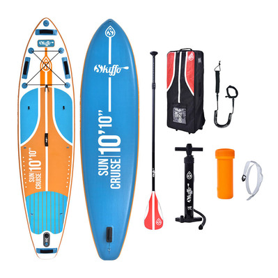 SUN CRUISE 10'10 - Stand up paddle gonflable bleu/orange + accessoires