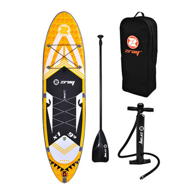X1 9'9 - Stand up paddle gonflable yellow/black + accessoires