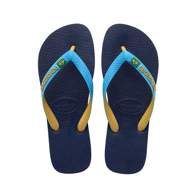 HAVAIANAS - HAV. BRASIL MIX NAVY BLUE/TURQUOISE/BURNED YELLOW 39/40 Homme NAVY BLUE/TURQUOISE/BURNED YELLOW