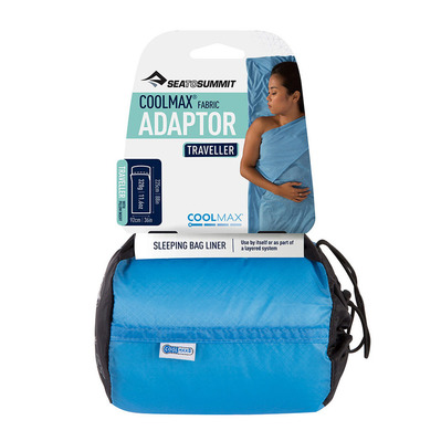 SEA TO SUMMIT - ADAPTATOR COOLMAX TRAVELLER - Drap sac de couchage blue