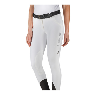 EQUILINE - WOMEN'S KNEE PATCH BREECHES Femme WHITE