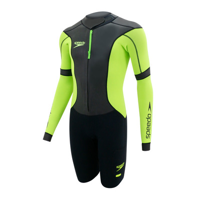 SPEEDO - SWIMRUN FULLSUIT - Traje hombre black/yellow