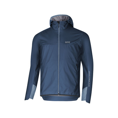 Wear H5 GORE® WINDSTOPPER® - Giacca Uomo deep water blue/cloudy blue