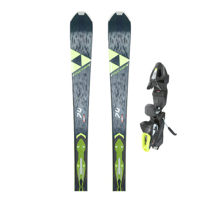 RC ONE 74 AR - Skis piste + Fixations RS 10 GW POWERRAIL B78 solid black/white/yellow