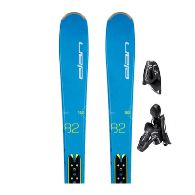 EXPLORE 82 PS - Esquís all mountain blue/yellow + fijaciones EL 10.0 GW SHIFT B85 solid black/black