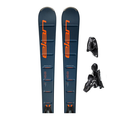 ELEMENT LS - Esquís all mountain hombre blue/orange + Fijaciones EL 10 GW SHIFT B85 solid black/black
