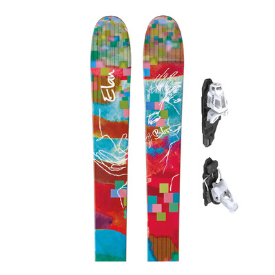 BLISS - Esquís backcountry mujer + Fijaciones PRW 12 GW B130 matt white/black