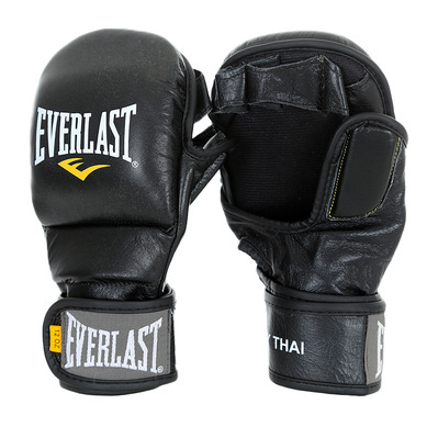 LEATHER STRIKING - Guantes de entrenamiento MMA black