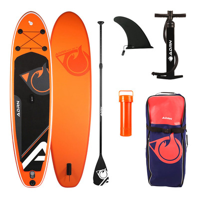 "CRUISER 10'2"" - Stand up paddle gonflable orange/noir + accessoires"