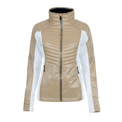 COURSE LIGHT - Doudoune hybride Femme white/beige