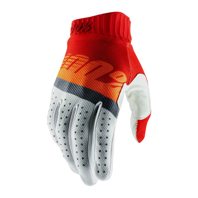 RIDEFIT - Gants red/fluo orange/blue