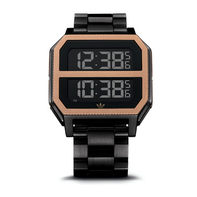 ARCHIVE MR2 - Reloj digital hombre all black/copper