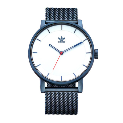 DISTRICT M1 - Reloj de cuarzo hombre navy/silver sunray/red