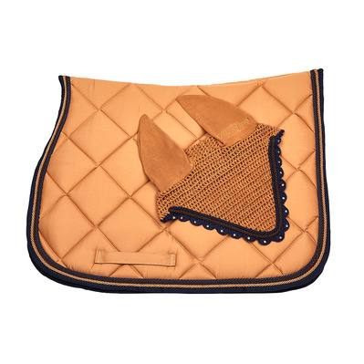 Wagner SADDLEPAD SET - Tapis mixte + bonnet creme/darkblue/brown