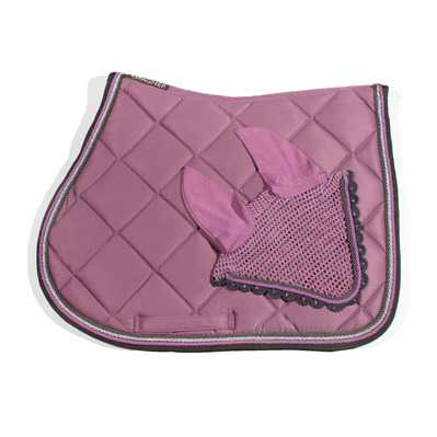 Wagner SADDLEPAD SET - Tapis mixte + bonnet old rose/grey